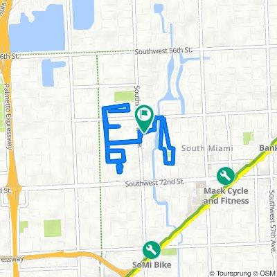 6627 SW 65th Terr, South Miami to 6626 SW 65th Terr, South Miami
