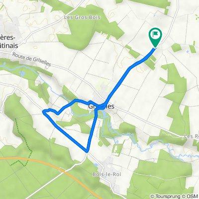 De 41 Route des Fours, Griselles a 41 Route des Fours, Griselles