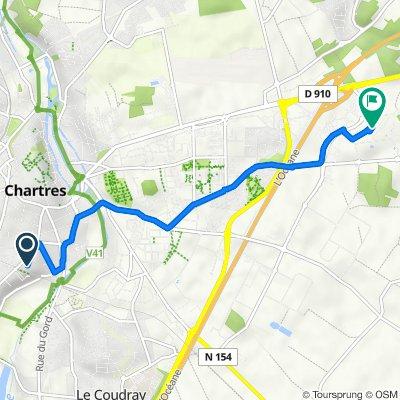 De 21 Rue de Loigny-la-Bataille, Chartres à Rue Gilles de Roberval, Nogent-le-Phaye
