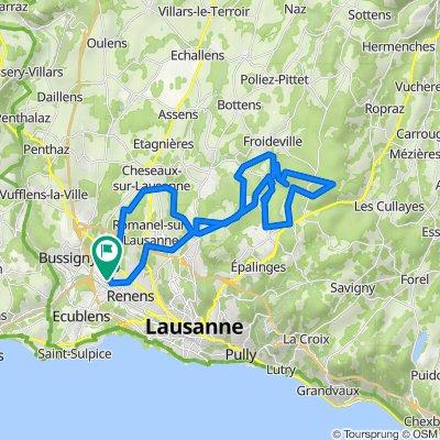 De Chemin du Mont-Blanc 8, Crissier a Chemin du Mont-Blanc 8, Crissier
