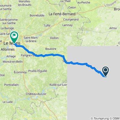 Tours de France Vendome to Le mans