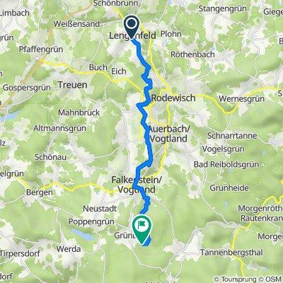 Malzhausgasse 2, Lengenfeld nach Hammerbrücker Straße 1–3, Grünbach