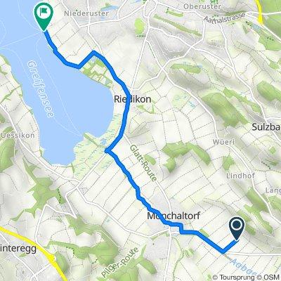 Route nach Uferweg 3, Uster