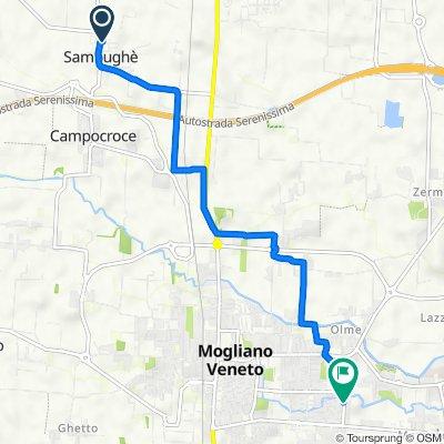 Da Via Marco Polo 5, Sambughe a Via delle Azalee 44, Mogliano Veneto