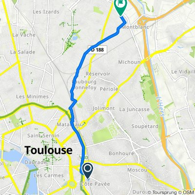 De 65 Rue Louis Vitet, Toulouse à 8 Rue Georges Ohnet, Toulouse