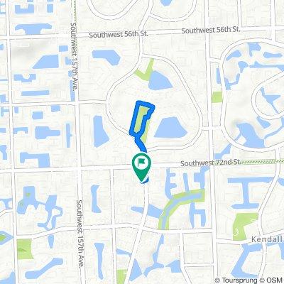 Southwest 152nd Avenue 7350, Miami to Southwest 152nd Avenue 7368, Miami