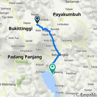 Unnamed Road, Kecamatan Baso to Jalan Jenderal Ahmad Yani 16, Rambatan