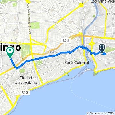 De Calle Gregorio Luperon, Santo Domingo a Avenida Tiradentes, Santo Domingo