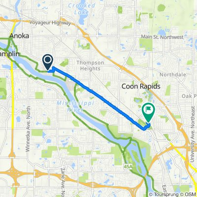 115th Avenue Northwest 3950, Minneapolis to 101st Avenue Northwest 1174, Minneapolis