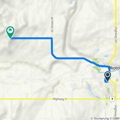 7 Westland Rd, Okotoks to 48159–48199 Highway 549 W, De Winton
