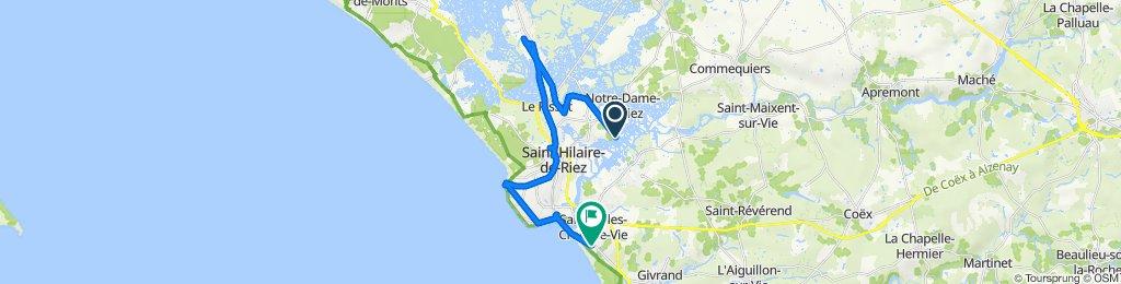 De Chemin des Vallées 391, Saint-Hilaire-de-Riez à Rue du Vent de Galerne 6, Saint-Gilles-Croix-de-Vie