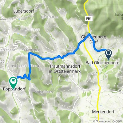Kaiser-Franz-Josef-Straße 7, Bad Gleichenberg nach Poppendorf, Poppendorf