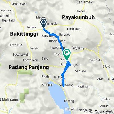 Unnamed Road, Kecamatan Baso to Simpuruik, Sungai Tarab