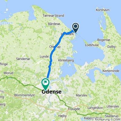 Halshusene 11, Otterup to Pakhusgården 50, Odense