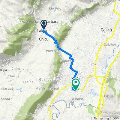 De Calle 6 254, Tabio a Calle 1 Sur 5-47, Chía