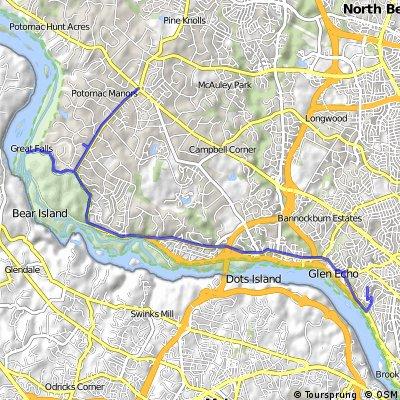 Glen Echo to Potomac