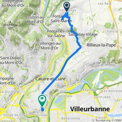 De 174 Chemin du Puits Pointu, Cailloux-sur-Fontaines à Rue Aimé Boussange, Lyon