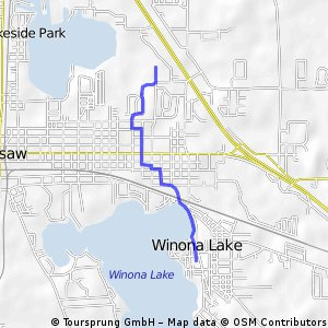 ROUTE TO HOSPITAL FROM WINONA LAKE