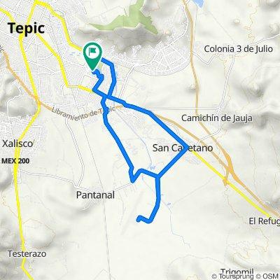 De Calle Mar Mediterráneo 174–190, Tepic a Calle 3, Tepic