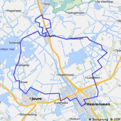Joure, Akkrum, Aldeboarn 60km
