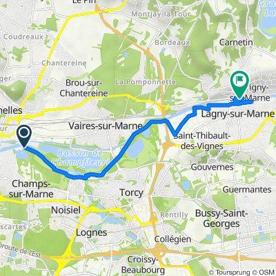 Itinéraire à partir de Chemin de la Rivière, Noisiel