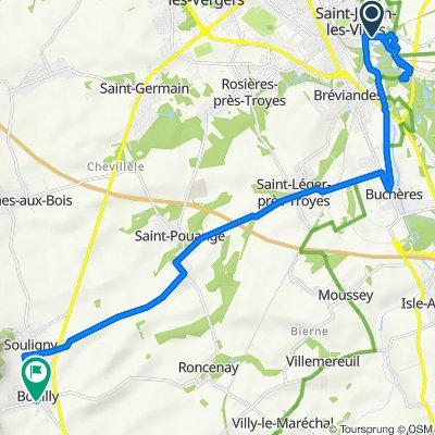 trajet Saint Juliens bouilly