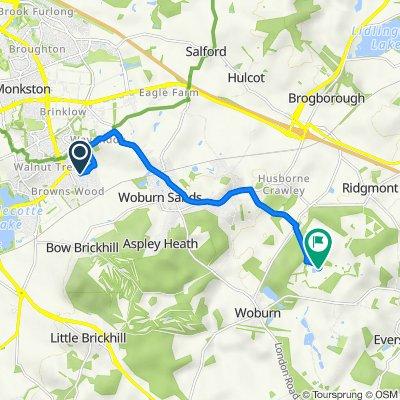 Route from 26 Lutyens Grove, Milton Keynes