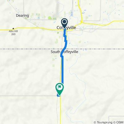 300–356 W Ninth St, Coffeyville to 402509–402571 EW 07 Rd, S Coffeyville