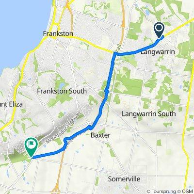 Cranbourne-Frankston Road Service Road 281, Langwarrin to Moorooduc Highway 460, Mount Eliza