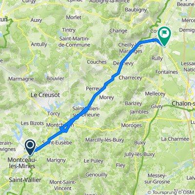 37 Rue du Bois des Ranches, Blanzy to 9 Chemin de Bellecroix, Chagny