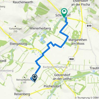 Route nach Brucker Straße 10/2, Schwadorf