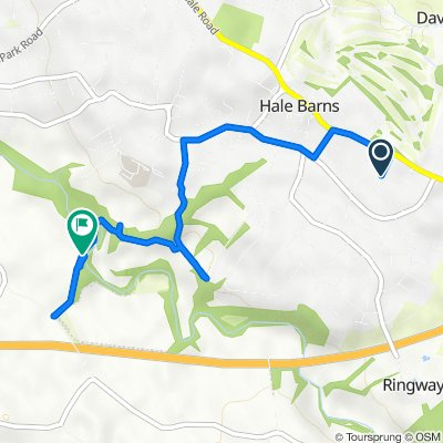 Route from 17 Prospect Dr, Altrincham