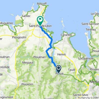 Itinéraire à partir de Moudennou 2, Plouénan