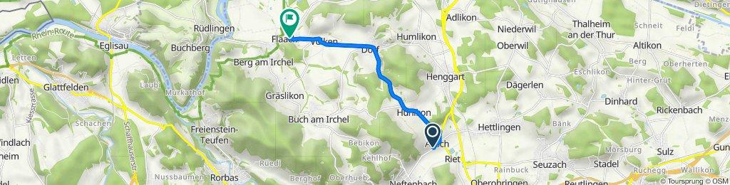 Haldenweg 11, Aesch bei Neftenbach nach Andelfingerstrasse 1, Flaach
