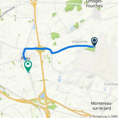 De Route du Camp, Limoges-Fourches à 970 Rue Frédéric Sarrazin, Réau