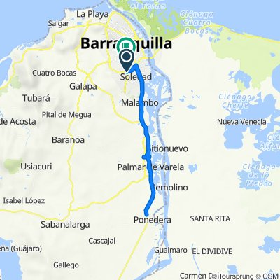 De Calle 63, Barranquilla a Carrera 2e 45-27, Barranquilla