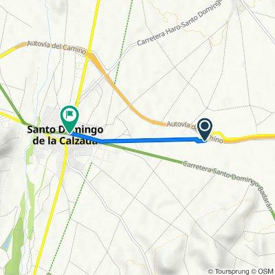 Carretera a Burgos, Bañares nach Plaza de la Alameda, 7, Santo Domingo de la Calzada