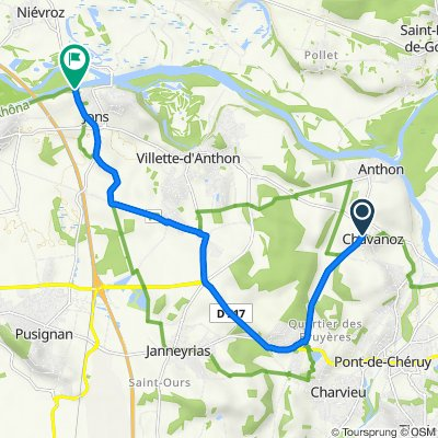 De 1 Chemin des Bruyères, Chavanoz à 1–5 Chemin des Acacias, Jons
