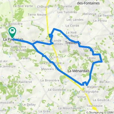 De Rue Anne de Bretagne 77C, Vigneux-de-Bretagne à Rue Anne de Bretagne 73, Vigneux-de-Bretagne