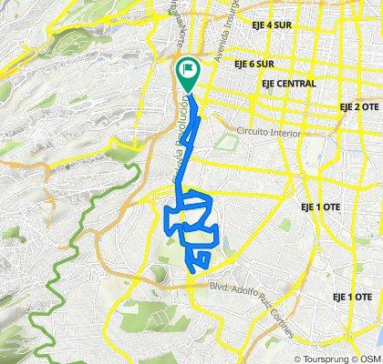 De Calle Félix Parra, Ciudad de México a Circuito Interior Río Mixcoac 198B, Ciudad de México