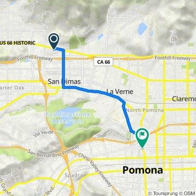 422 Heatherglen Ln, San Dimas to 1095 N Garey Ave, Pomona