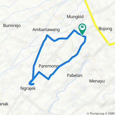 Jalan Pondok Pabelan No.5, Mungkid to Jalan Pondok Pabelan No.5, Mungkid