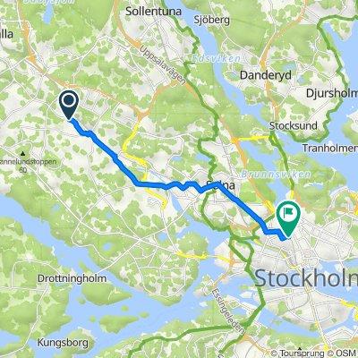 Ankarsrumsgatan 30, Stockholm to Kungstensgatan 36, Stockholm