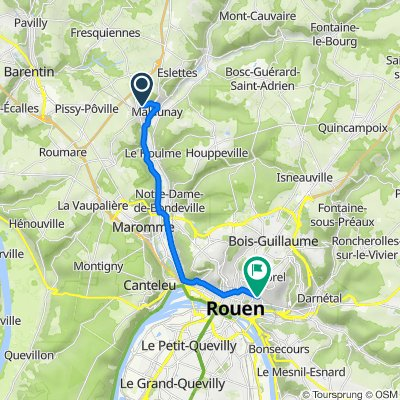 De 122 Rue Jean Moulin, Malaunay à 41 Boulevard de Verdun, Rouen