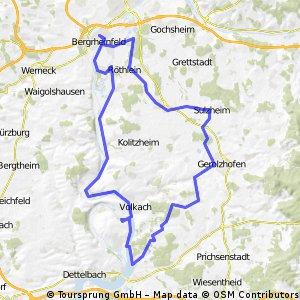 Bergrheinfeld - Hallburg - Bergrheinfeld