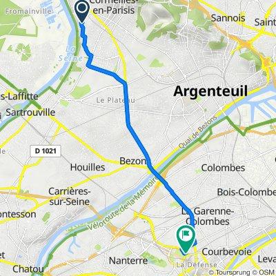 De 27bis Rue du Professeur Calmette, Cormeilles-en-Parisis à 5 Cours du Triangle, Puteaux