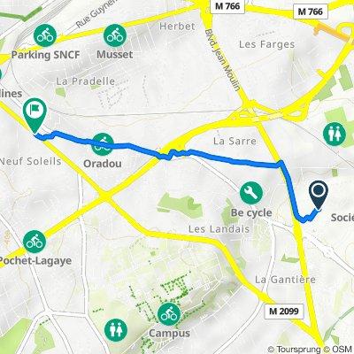 De 28 Rue Joseph Desaymard, Clermont-Ferrand à 90 Boulevard Lafayette, Clermont-Ferrand