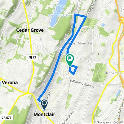 75 Valley Rd, Montclair to 500 Valley Rd, Montclair