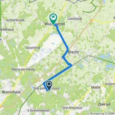 Kerklei 46, Brecht naar Hagelkruis 2, Wuustwezel