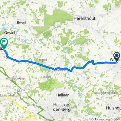 Itegemseweg 8, Heist-op-den-Berg naar Sollevelden 34, Berlaar